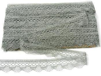 Paličkovaná krajka vzor 82216 stříbrná | 30 m - 5