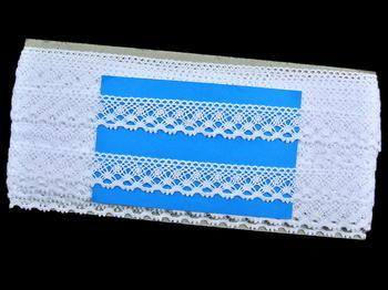 Paličkovaná krajka vzor 82222 bílá | 30 m - 5