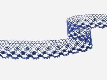 Bobbin lace No. 82222  dark blue | 30 m - 5