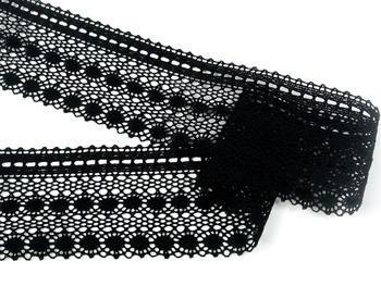 Paličkovaná krajka vzor 82240 černá | 30 m - 5