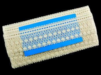 Paličkovaná krajka vzor 82240 režná | 30 m - 5