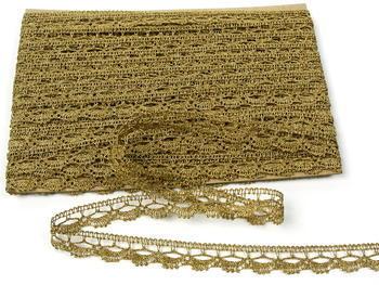 Paličkovaná krajka vzor 82307 zlatá antik | 30 m - 5