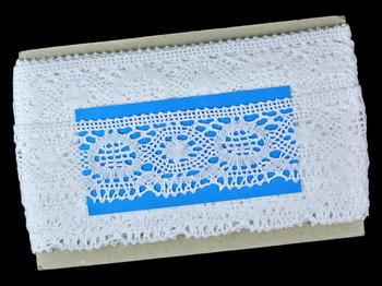 Paličkovaná krajka vzor 82339 bílá | 30 m - 5