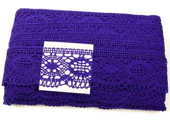 Paličkovaná krajka vzor 82339 purpurová | 30 m - 5