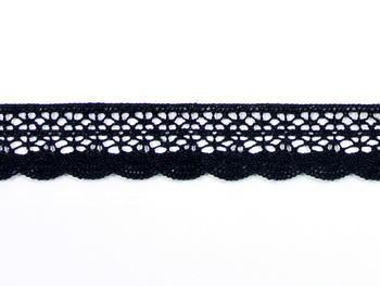 Paličkovaná krajka vzor 75077 černá | 30 m - 6