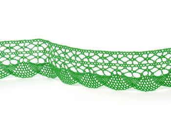 Paličkovaná krajka vzor 75077 trávová zelená | 30 m - 6