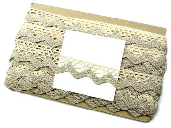Bobbin lace No. 75220 ecru/light linen   30 m - 6