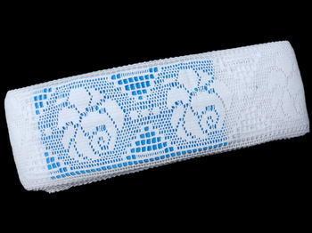 Paličkovaná vsadka vzor 75241 bílá | 30 m - 6