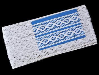 Paličkovaná vsadka vzor 75250 bílá | 30 m - 6