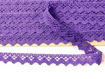 Paličkovaná krajka vzor 75259 purpurová II.| 30 m - 6
