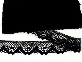 Bobbin lace No. 75261 black | 30 m - 6