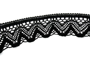 Bobbin lace No. 75301 black | 30 m - 6