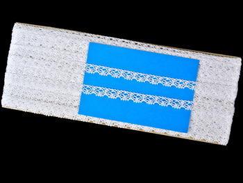 Paličkovaná krajka vzor 75641 bílá | 30 m - 6