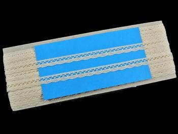Paličkovaná krajka vzor 75512 režná | 30 m - 6