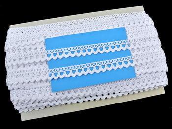 Paličkovaná krajka vzor 75604 bílá | 30 m - 6