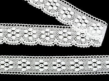 Bobbin lace No. 75623 white | 30 m - 6