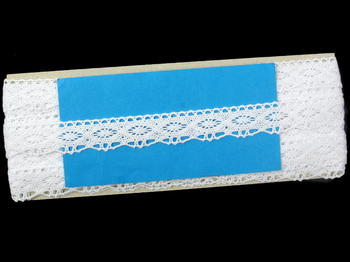 Paličkovaná krajka vzor 75624 bílá | 30 m - 6