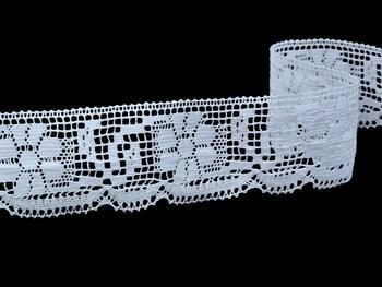 Paličkovaná krjaka vzor 81035 bílá | 30 m - 6