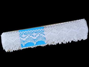 Paličkovaná krajka vzor 82157 bílá   30 m - 6