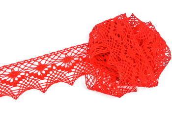 Paličkovaná krajka vzor 82157 červená | 30 m - 6