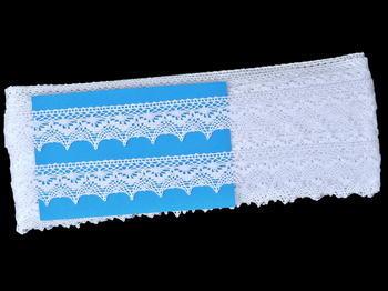 Paličkovaná krajka vzor 82158 bílá   30 m - 6