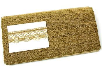 Paličkovaná krajka vzor 82216 zlatá | 30 m - 6