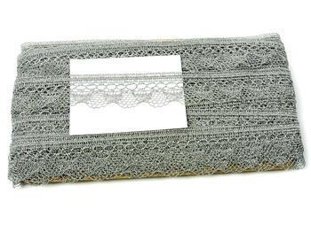 Paličkovaná krajka vzor 82216 stříbrná | 30 m - 6