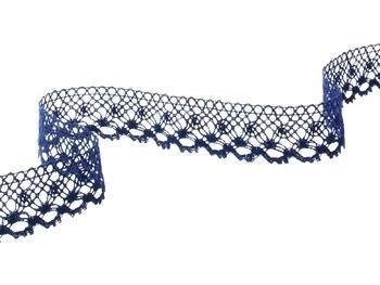 Bobbin lace No. 82222  dark blue | 30 m - 6