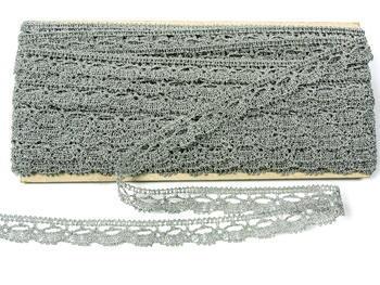 Bobbin lace No. 82307 silver | 30 m - 6