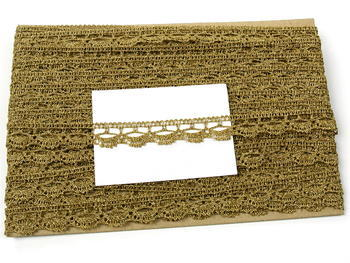 Paličkovaná krajka vzor 82307 zlatá antik | 30 m - 6