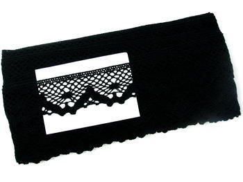 Bobbin lace No. 75261 black | 30 m - 7