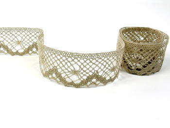 Bobbin lace No. 75261 natural linen | 30 m - 7