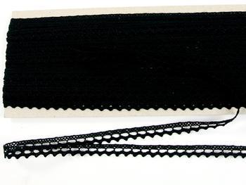 Paličkovaná krajka vzor 75397 černá | 30 m - 7