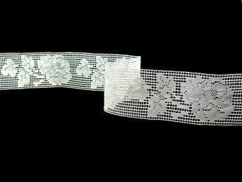 Paličkovaná vsadka vzor 81093 režná | 30 m - 7