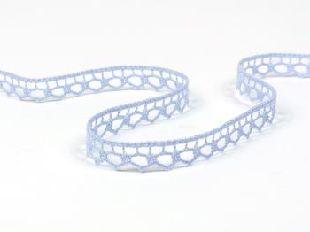 Paličkovaná krajka vzor 82195 světle modrá | 30 m - 7