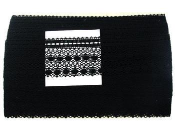 Paličkovaná krajka vzor 82240 černá | 30 m - 7