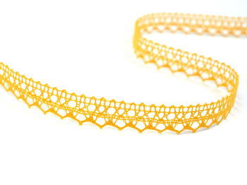 Bobbin lace No. 82302 dark yellow | 30 m - 7